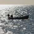 Italy, Sicily, Mediterranean Sea, fisherman - Stock Photo