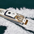 Italy, Tyrrhenian Sea, Tecnomar 26 luxury yacht, aerial view — Stock Photo #6761913