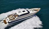 Italy, Tyrrhenian Sea, Tecnomar 26 luxury yacht, aerial view — Стоковое фото