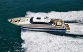Italien, tyrrhenisches meer, tecnomar 26-luxus-yacht, luftbild — Stockfoto