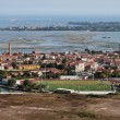 Italy, Venice, Murano Island and venetian lagoon aerial view — Stock Photo