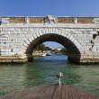 Italy, Venice, aproaching the Nicelli airport on a taxi motor boat — Stock Photo
