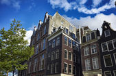 Holland, Amsterdam, old private stone houses — Stock Photo