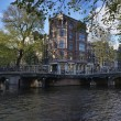 Holland, Amsterdam, one of the many canals — Stock Photo