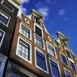 Holland, Amsterdam, old private stone houses — Foto Stock