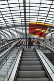 Holland, Amsterdam, Central Railway Station, escalators — Stock Photo