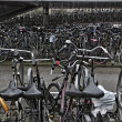Holland, Amsterdam, bicycles parking — Stock Photo