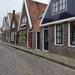 Holland, Volendam, old stone houses - Stock Photo