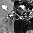 Holland, Volendam (Amsterdam), motorcycles parked - Stock Photo