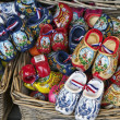 Holland, Volendam (Amsterdam), typical dutch wooden shoes - Stock Photo