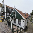 Olland, Volendam village, typical old dutch house - Stock Photo