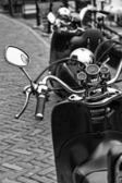 Holland, Volendam (Amsterdam), motorcycles parked — Foto de Stock
