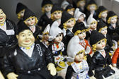 Holland, Volendam (Amsterdam), typical dutch dolls for sale — Stock Photo