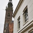Holland, Edam village (Amsterdam), the cathedral's bell tower — Stock Photo