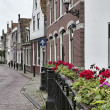 Holland, Volendam village (Amsterdam), typical dutch stone houses - Stock Photo