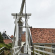 Holland, Edam village (Amsterdam), old mobile bridge — Stock Photo