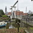 Stock Photo: Holland, Edam village (Amsterdam), old mobile bridge