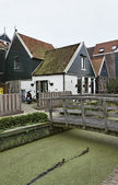 Holland, Volendam (Amsterdam), typical dutch stone houses — Stock Photo