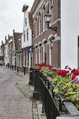 Holland, Volendam village (Amsterdam), typical dutch stone houses — Stock Photo