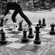 Holland, Amsterdam, man playing chess in a central street — Stock Photo #7326109