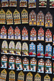 Holland, Amsterdam, miniature dutch houses for sale — Stock Photo