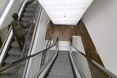 Holland, Amsterdam, escalator in a public library — Stock Photo