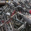 Holland, Amsterdam, bicycles parking near the Central Station — Stock Photo