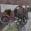 Holland, Amsterdam, bicycles parked in a central street — Stock Photo #7429073