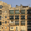 Malta Island, view of Valletta old buildings — Stock Photo