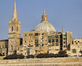 Malta Island, view of Valletta and St. John Co-Cathedral's dome — Stock Photo