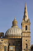 Malta Island, view of Valletta's St. John Co-Cathedral's dome — Stock Photo