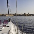 Malta Island, entering the port of Valletta on a sailing boat — Stock Photo #7455023