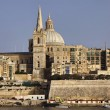 Malta Island, view of Valletta and St. John Co-Cathedral's dome — Stock Photo #7455361