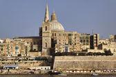 Malta Island, view of Valletta and St. John Co-Cathedral's dome — Foto de Stock