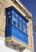 Malta Island, Marsaxlokk, typical maltese old house facade — Stock Photo