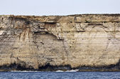 Malta Island, view of the southern rocky coastline of the island — Stock Photo