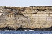 マルタ島、島の南の岩の多い海岸線の眺め — ストック写真