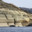 Malta Island, view of the southern rocky coastline of the island - Stock Photo