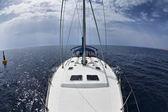 Canal de italia, mediterráneo, sicilia, barco de vela — Foto de Stock
