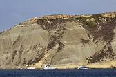 Vista della costa rocciosa del sud dell'isola, isola di malta — Foto Stock