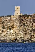 остров мальта, старая башня saracin — Стоковое фото