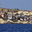 Malta Island, Anchor Bay, Popeye Village (Sweethaven Village) - Stock Photo