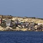 Malta Island, Anchor Bay, Popeye Village (Sweethaven Village) — Stock Photo