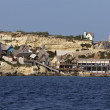 Malta Island, Anchor Bay, Popeye Village (Sweethaven Village) — Stock Photo