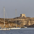 Malta Island, view of the northern rocky coastline of the island - Stock Photo