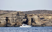 Malta Island, view of the southern rocky coastline of the island — Zdjęcie stockowe