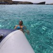 Malta Island, the crystal clear water of Comino's Blue Lagoon - Stock Photo