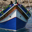 Malta Island, typical maltese fishing boat - Stock Photo