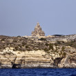 Malta,  Gozo Island, view of the southern rocky coastline - Stock Photo