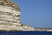 Malta, Gozo Island, view of the southern rocky coastline of the island — Stock Photo